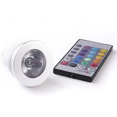RGB LED žárovka - dálkové ovládání
